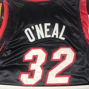 Vintage Shaq O'Neal Miami heat jersey size 54
